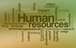 Ressources humaines - nuage de mot Photographie stock