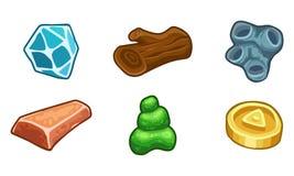 Ressources pour l'ensemble de vecteur d'icônes de jeux Photo stock