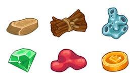 Ressources pour l'ensemble de vecteur d'icônes de jeux Photographie stock libre de droits