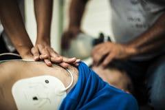 Ressuscitation cardio-pulmonaire Images libres de droits