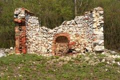 Rest altes Steingebäude Lizenzfreie Stockfotografie