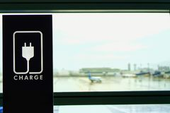 The rest area at the airport. royalty free stock image