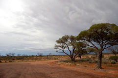 Rest area in Australian outback. Stuart highway, South Australia Stock Photos