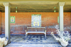 Rest area with bench in Marston House Museum & Gardens. San Dieg Royalty Free Stock Photo