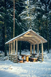 Rest area in the forest Royalty Free Stock Photography