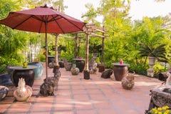Rest area in garden. Thailand Stock Photos