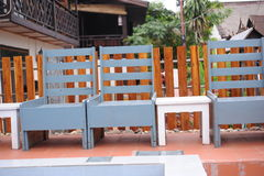 Rest area on of hostel in Luang prabang,laos Stock Photography
