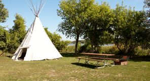 Rest area,native americans teepee Stock Images