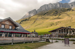 Rest area located in the French Alps Royalty Free Stock Photography