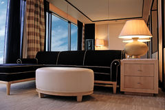 Rest area in a modern elegant hotel room Stock Image