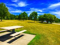 Rest Area Picnic Table. A picnic table at a rest area Stock Image