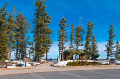Rest Area. Rainbow Point rest area at the Bryce Canyon National Park, Utah, USA Royalty Free Stock Photography