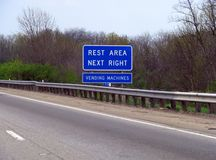 Rest Area Road Sign Stock Photos