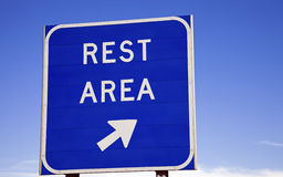 Rest area sign Royalty Free Stock Image