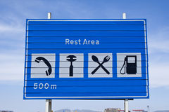 Rest area sign Stock Photography