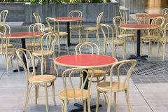 Rest area table sets Stock Photo