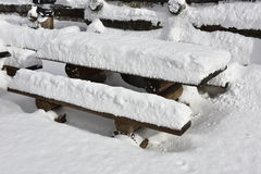 Rest Area Under Snow Stock Image