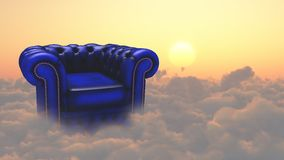 Rest. Armchair on a clouds. This image created in entirety by me and is entirely owned by me and is entirely legal for me to sell and distribute Stock Image