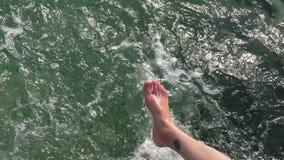 Rest auf dem Meer, Rest auf dem Strand stock video