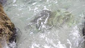Rest auf dem Meer, Rest auf dem Strand stock video footage