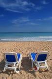 Rest auf dem Strand Stockbild