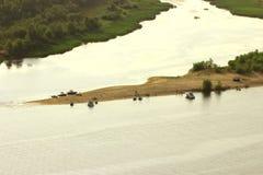 Rest auf den Sandbanken des Flusses Lizenzfreies Stockbild