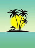 Rest auf Hawaii Stockbilder