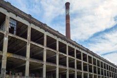 Rest av den övergav fabriken, Peters Cartridge Company Arkivbilder