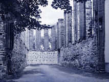 Rest av den gotiska kyrkan Royaltyfri Foto