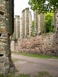 Rest av den gotiska kyrkan i Panensky Tynec Tjeckiska Republ Fotografering för Bildbyråer