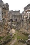 Rest av den walled slotten av Leiria, Beiras Arkivbilder