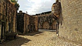 Rest av det Mamula fängelset i Adriatiskt havet royaltyfri fotografi