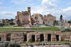 Rest av Domusen Aurea som byggs av kejsaren Nero i Rome, Italien Fotografering för Bildbyråer