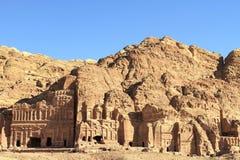 Rest av en forntida tempel i Petra, Jordanien royaltyfri fotografi