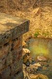Rest av en gammal bock för stångväg på Echo Valley Royaltyfri Bild