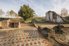 Rest av en lantgård i Winterswijk i öst av Nederländerna Royaltyfri Fotografi