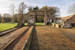 Rest av en lantgård i Winterswijk i öst av Nederländerna Arkivbilder