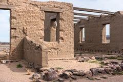 Rest av fortet Churchill, Nevada arkivbild