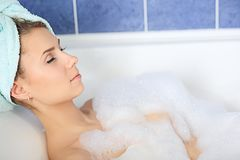 Rest in a bath Stock Photography