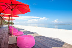 Rest on beach of Gili Trawangan. Island,, Indonesia Royalty Free Stock Images