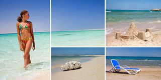 Rest on a beach- summer concept Royalty Free Stock Image