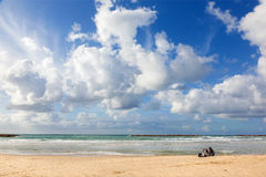 The rest on the beach of Tel Aviv Royalty Free Stock Photos