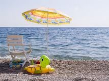 Rest by the black sea Stock Images