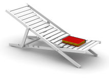 Rest with the book. The book lays on a chaise lounge (concept Stock Photo