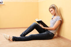 Rest with a book Stock Photography