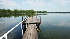 Rest on the camp site White Dew. The White Dew Chalet is an island of calm and serenity, just 25 km from Vitebsk, the village of Pushkari, Lake Beloye. Here you stock video