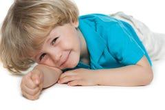 Rest of cute preschool boy Royalty Free Stock Image