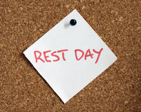 Rest day reminder Stock Photography