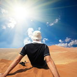 Rest in desert Royalty Free Stock Photography