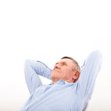 Rest and dream of successful older men Royalty Free Stock Photography